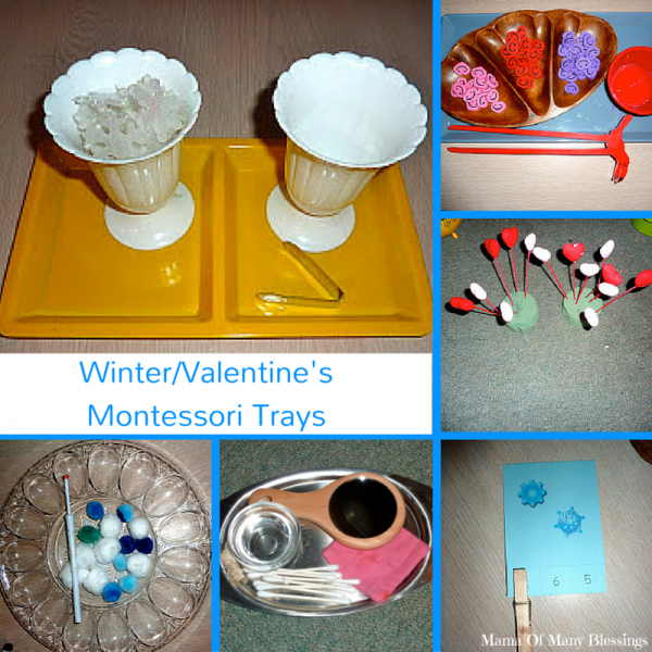 Winter and Valentine's Day Montessori Activities