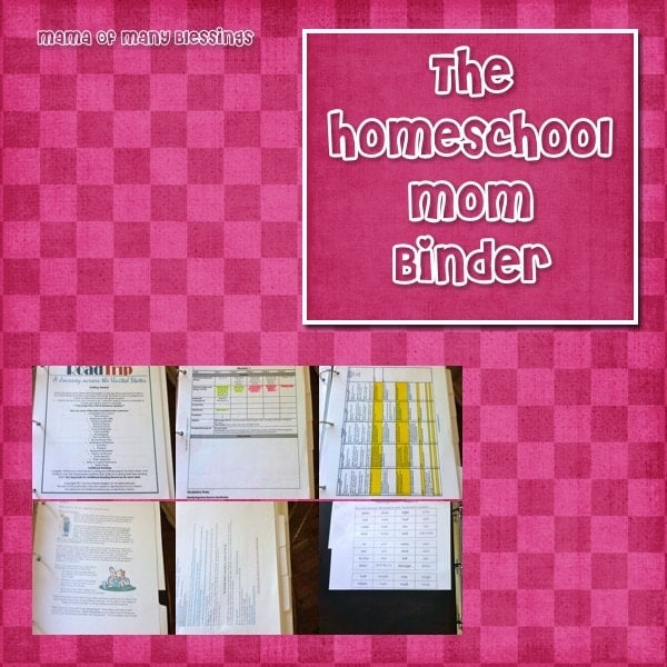 Homeschool Mom Binder