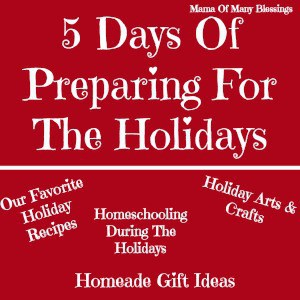 5 Days Of Preparing For The Holidays