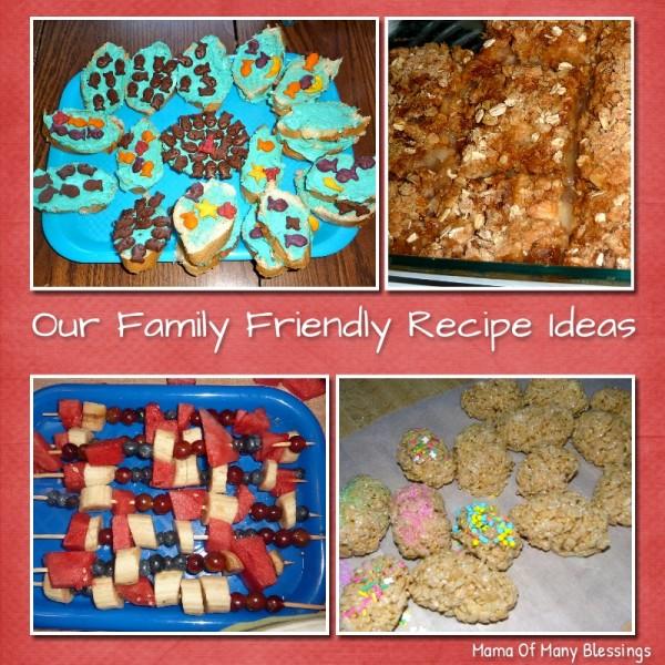 Family Friendly Recipe Ideas