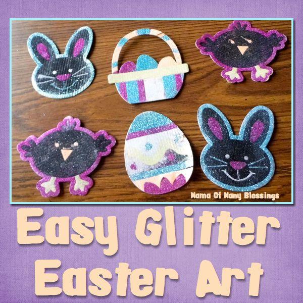 Easy glitter craft for easter for Glitter crafts for kids