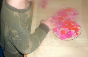 Valentine Craft Ideas ~ Heart Sun Catchers