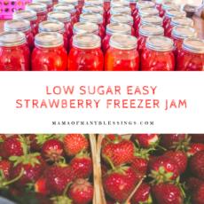 Low Sugar Strawberry Freezer Jam 2