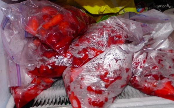 Freezing-Strawberries