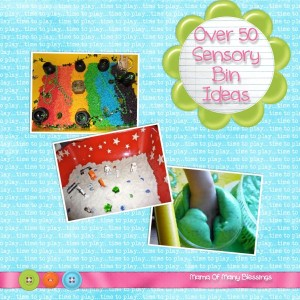 Over 50 Sensory Bin Ideas