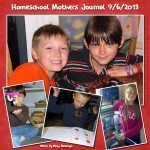 Homeschool Mothers Journal ~ 9/6/2013