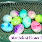 Easter Egg Decorating ~ Marbleized Eggs