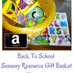 Back To School Sensory Resources Gift Basket Giveaway