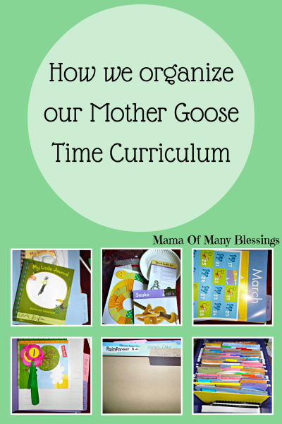 How We Organize Our Mother Goose Time curriculum