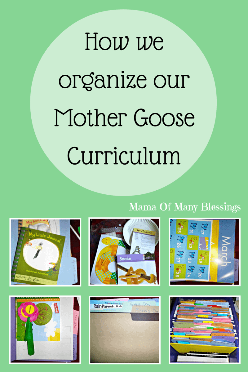 How We Organize Our Mother Goose Time