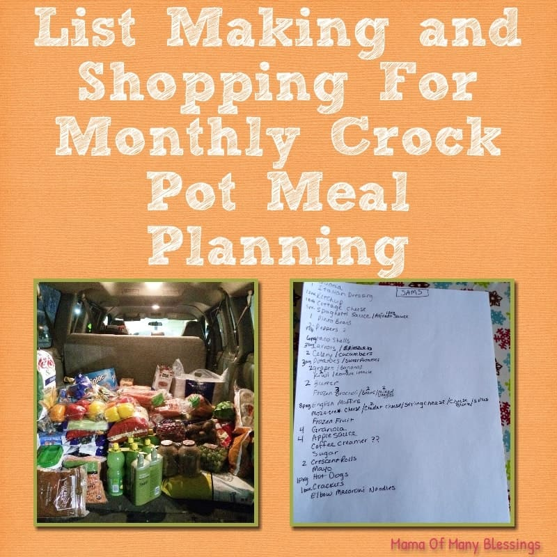 Crock Pot Meal Planning Series