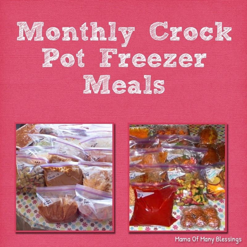 Monthly Freezer Cooking