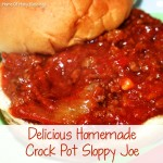 Homemade Crock Pot Sloppy Joes