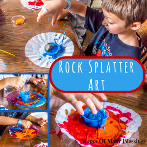 Rock Splatter Art