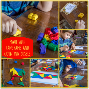 Math Fun With Tangrams and Bus Counters