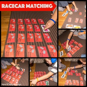 Racecar Matching Game