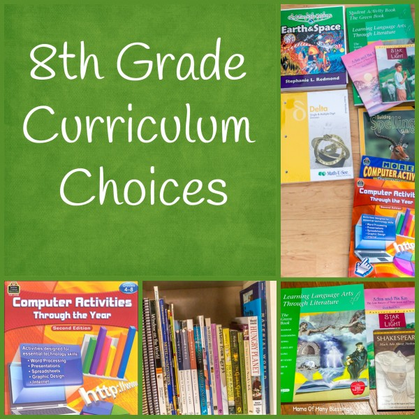 8th Grade Curriculum Choices For 2015 2016