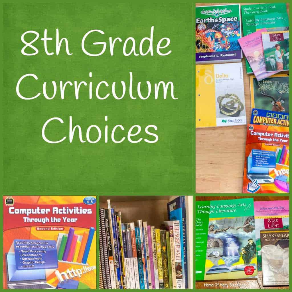 8th Grade Curriculum Choices