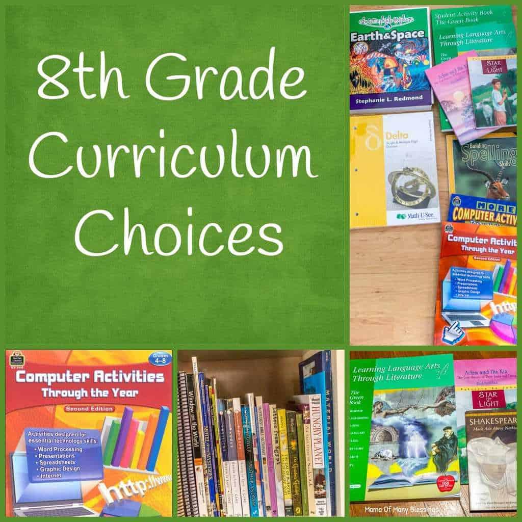 8th Grade Curriculum Choices