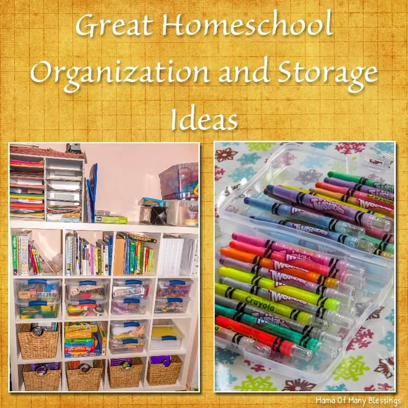 Great homeschool organization and storage ideas