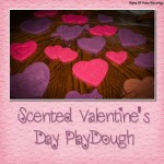 Wonderful glittery and soft valentines day playdough