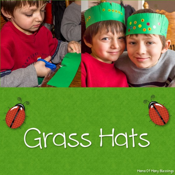 Grass Hat Kids Craft