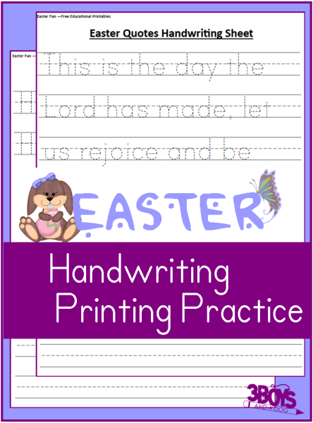 Easter-Kindergarden-Handwriting-Practice