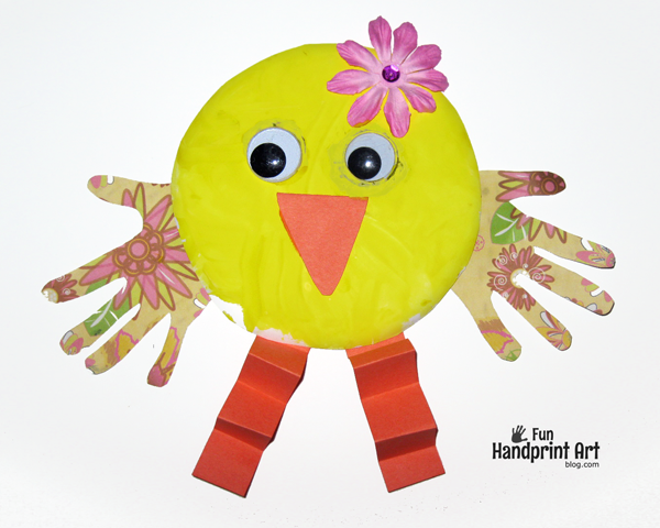 Spring-Paper-Plate-Chick-Craft