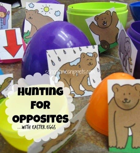 hunting for opposites Easter Eggs
