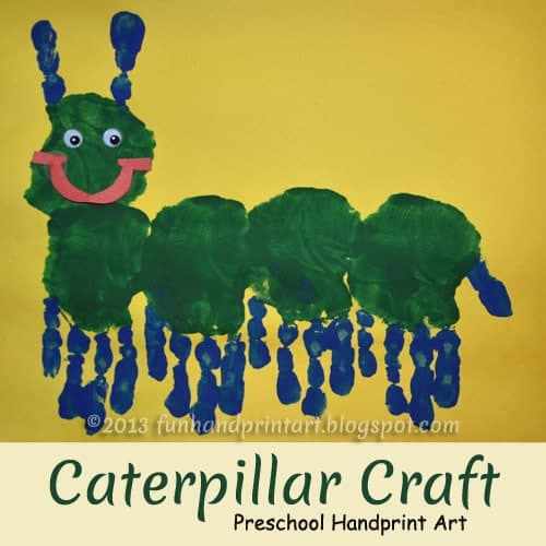 Handprint-Caterpillar-Preschool-Craft