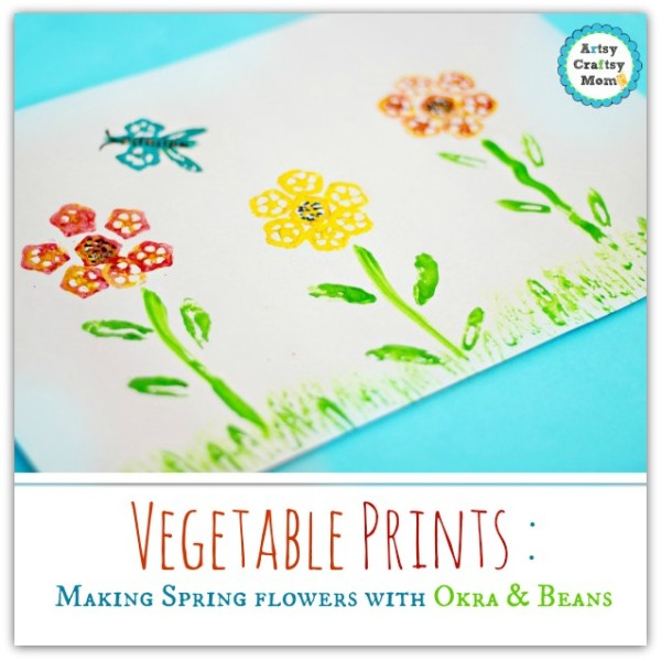 Okra-bean-printing-spring-flower-Kid-Craft