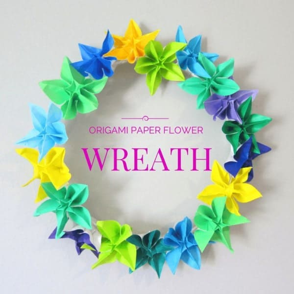 Origami-paper-flower-wreath-craft-1