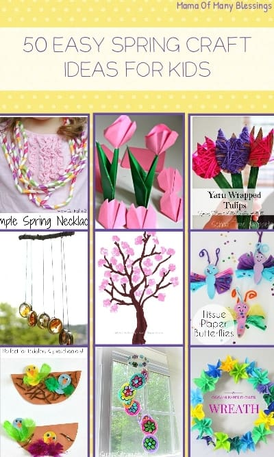 50 Awesome Quick And Easy Kids Craft Ideas For Spring