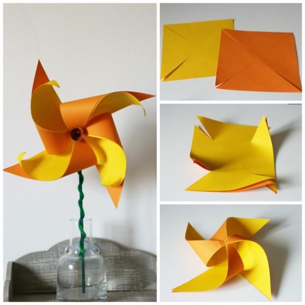 Pinwheel-Daffodils-spring-kids-craft
