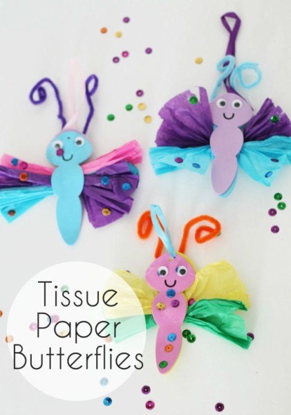 Tissue-Paper-Butterfly-Kids-Craft