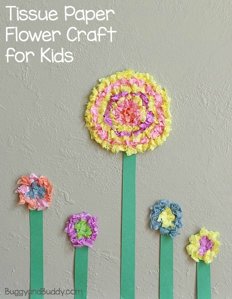 tissue-paper-Spring-Kids-Craft
