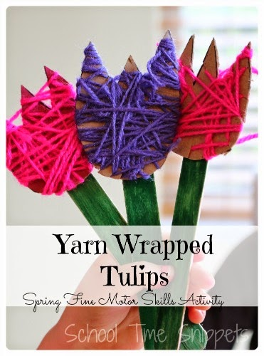 Yarn-Wrapped-Tulips-Spring-Kids-Craft