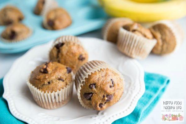 Banana-Bread-Dark-Chocolate-Muffins--Healthy-breakfast-ideas