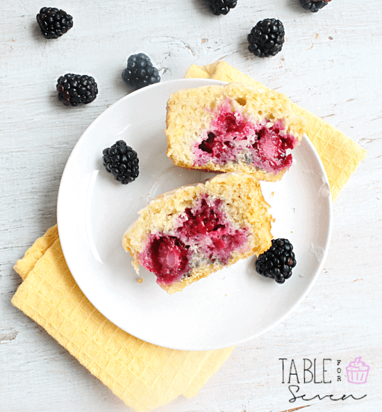 Blackberry-Muffins-with-Lemon-Glaze-Healthy-breakfast-ideas