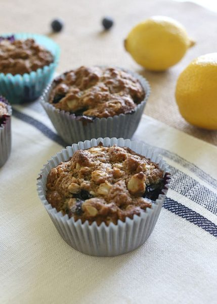 Blueberry-Lemon-Muffins-Healthy-breakfast-ideas