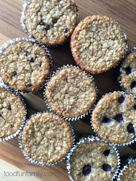 flourless-banana-oatmeal-muffins-Healthy-breakfast-ideas