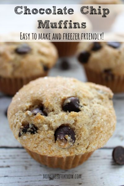 Chocolate-Chip-Muffins-Recipe-Healthy-breakfast-ideas