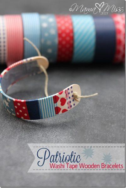 Patriotic-Washi-Tape-Wooden-Bracelets