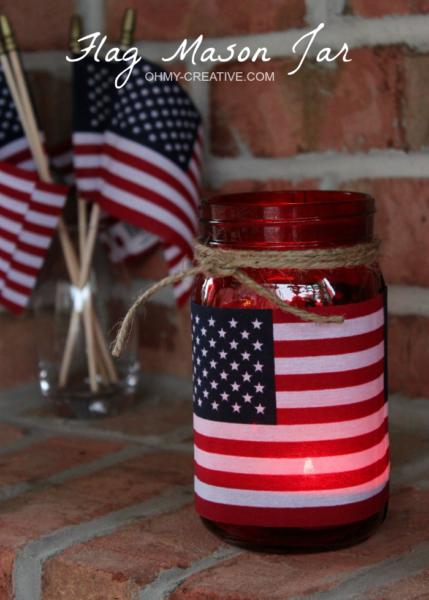 Patriotic-Flag-Mason-Jar-Candle-Holder-Craft-OHMY-CREATIVE.COM-2