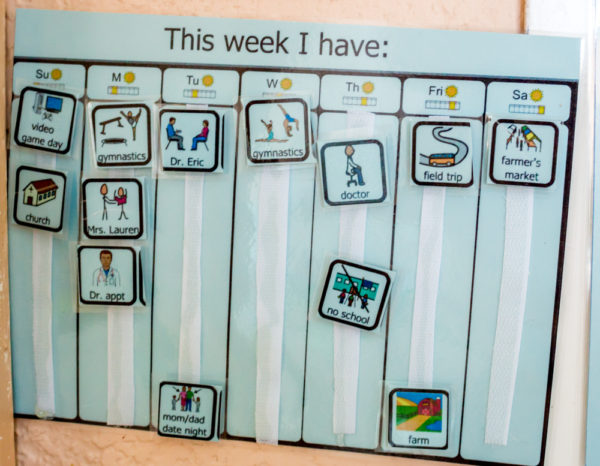 Weekly Calendar Autism : Visual schedule for better behavior in spd and asd kids