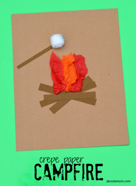 crepe-paper-campfire2-Kids-Craft-ideas