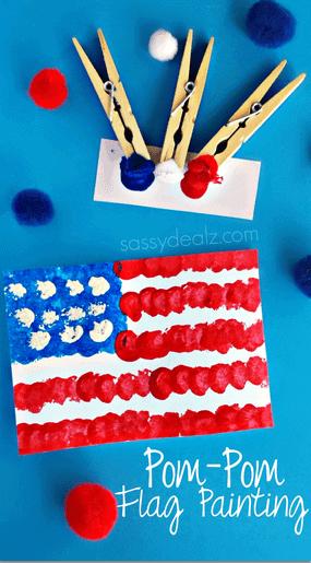 pom-pom-american-flag-4th-of-july-craft-for-kids