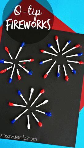 q-tip-fireworks-craft-for-kids