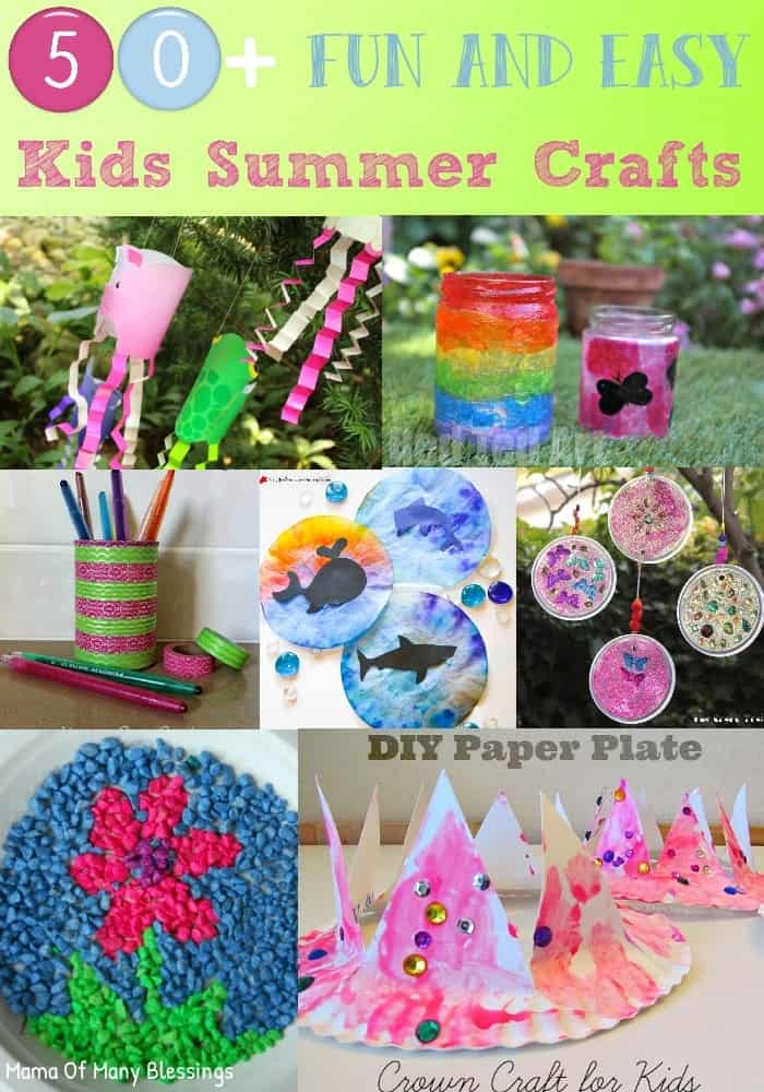 Easy Summer Craft Ideas For Kids Part - 28: 50+-Fun-and-Easy-Kids-Craft-Ideas-For