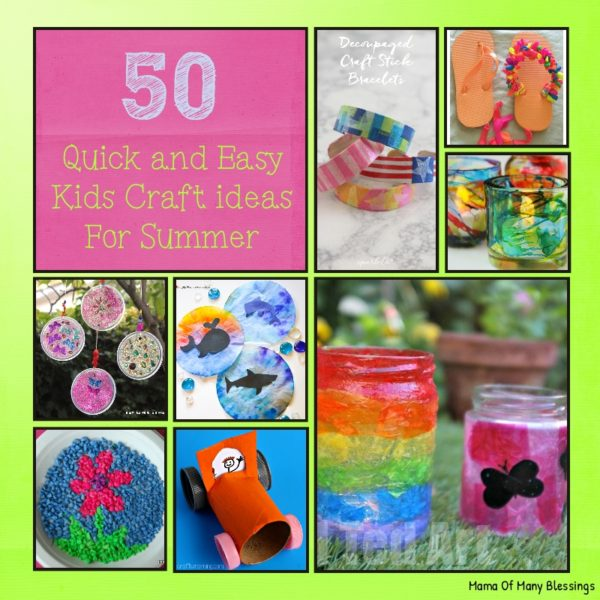 Kids Crafts Ideas For Summer Part - 33: 50 Awesome Quick And Easy Kids Craft Ideas For Summer